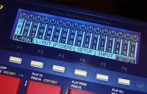 MPC1000 Midnight Blue LCD Screen
