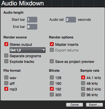 Audio Mixdown