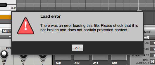 MPC Software PRJ Error