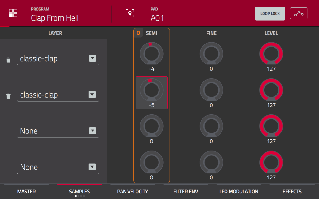 MPC Touch: Tuned Layers